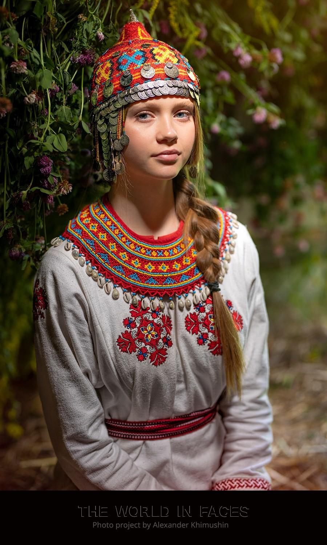 Eine junge Tschuwaschen-Frau