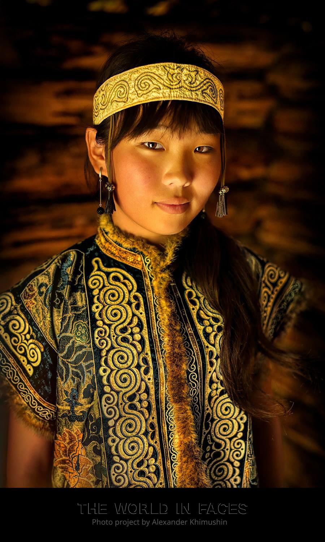 Eine junge Niwchen-Frau
