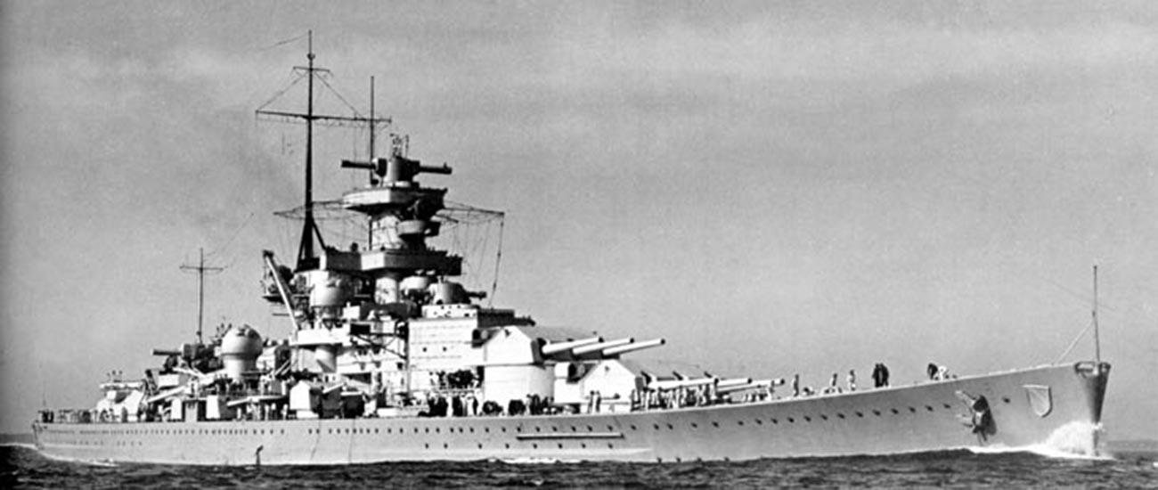 El acorazado 'Scharnhorst'.