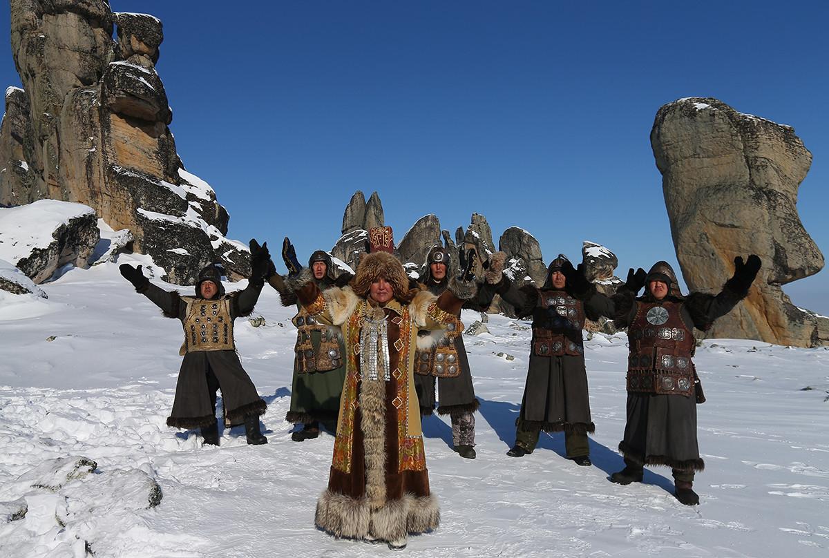 Священная гора Кисилях в Якутии.