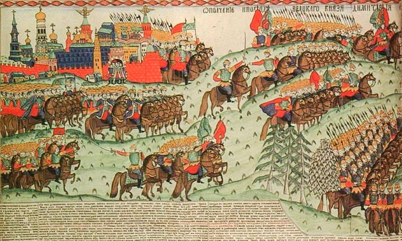 Lubok 'The Battle of Kulikovo'. I.G. Blinov, second half of the 19th century.