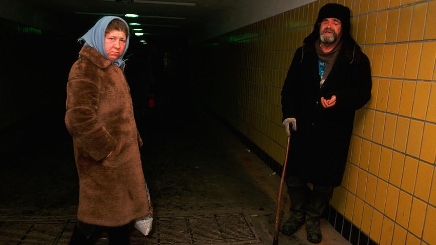 Бездомни хора в Москва, 1 януари 1990 г.