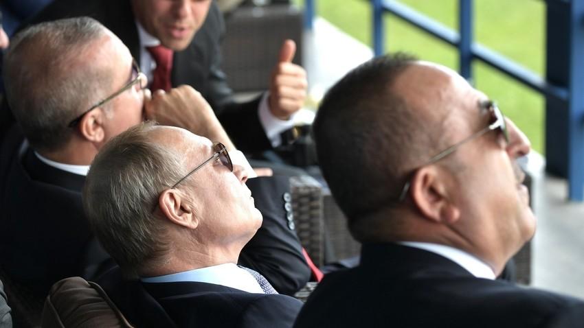 Ердоган, Путин и Чавушоглу на аеро-космичкој изложби МАКС 2019.