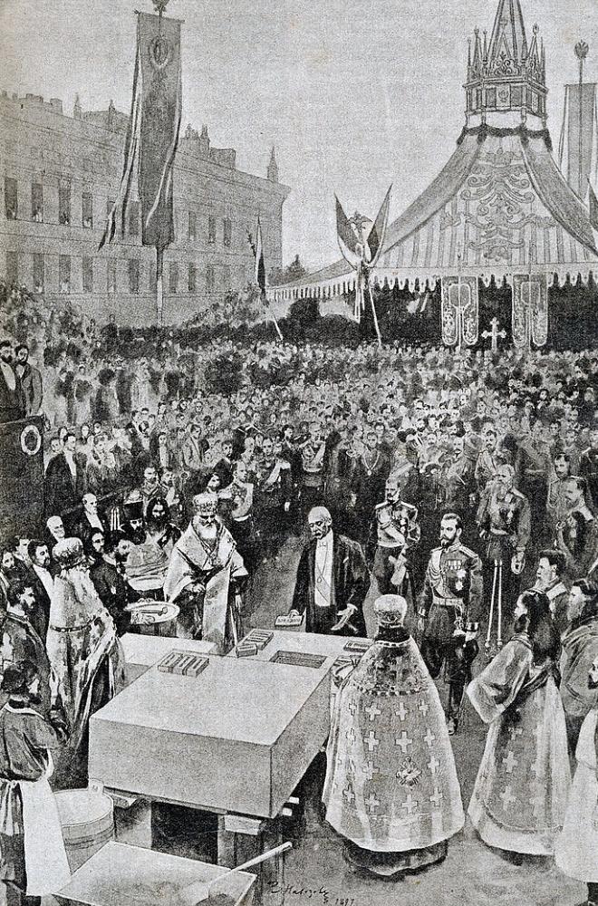 Le président français Félix Faure à Saint-Petersbourg