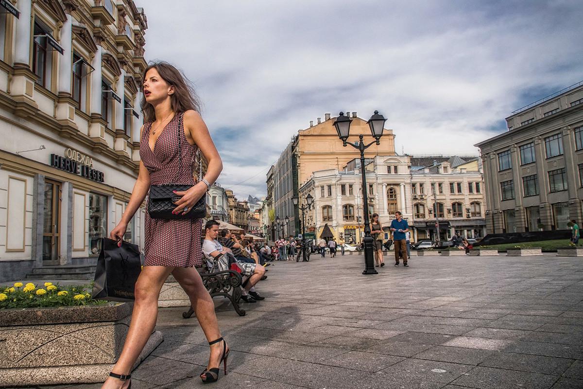 Kuznetsky Most street, Moscow, Russia. Kuznetsky Most is a street in central Moscow, that runs from Bolshaya Dmitrovka Street to Lubyanka Street.