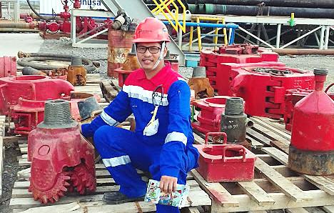 Andi Mardianza, lulusan Universitas Gubkin Rusia yang  kini bekerja sebagai Geoscientist Regional Studi di PT Pertamina EP.
