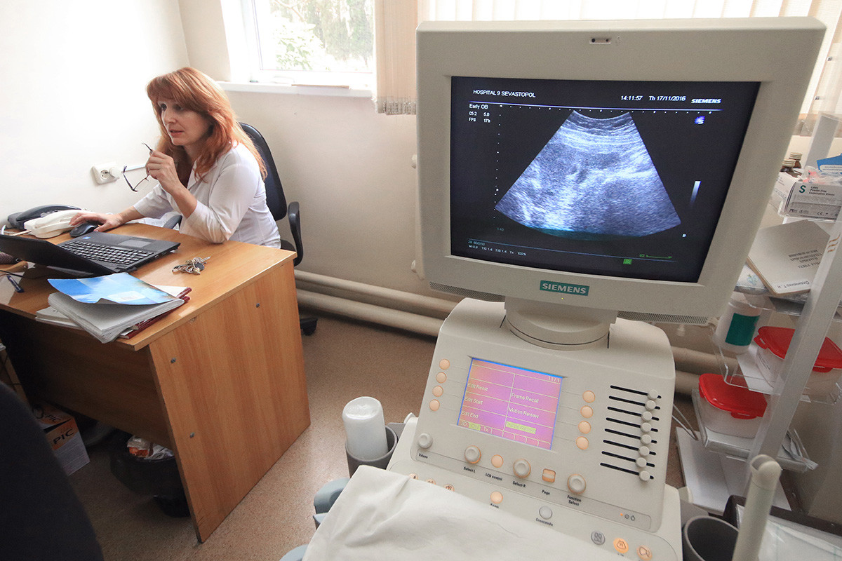 An ultrasound machine at a Crimean hospital
