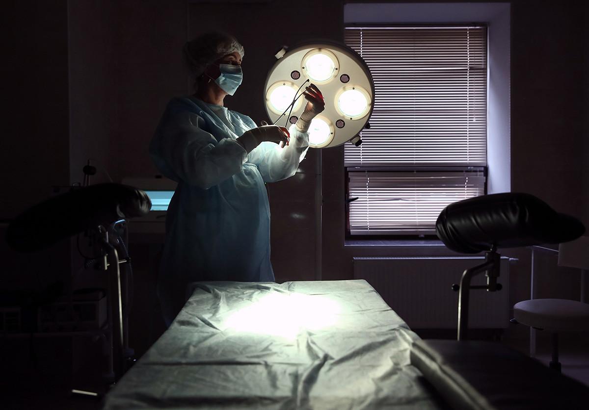 Sala de operação em ala de ginecologia