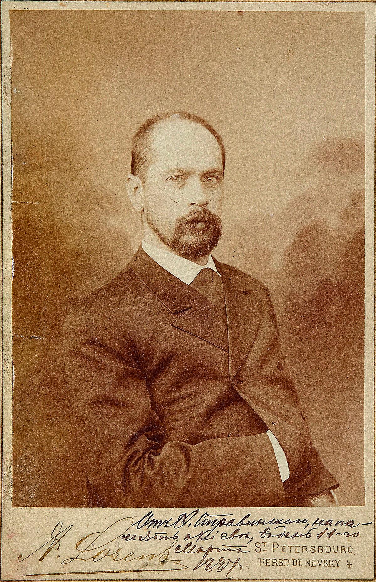Fjodor Stravinskij (1843-1902), cantante lirico (basso), padre del famoso compositore Igor Stravinskij (1882-1971)