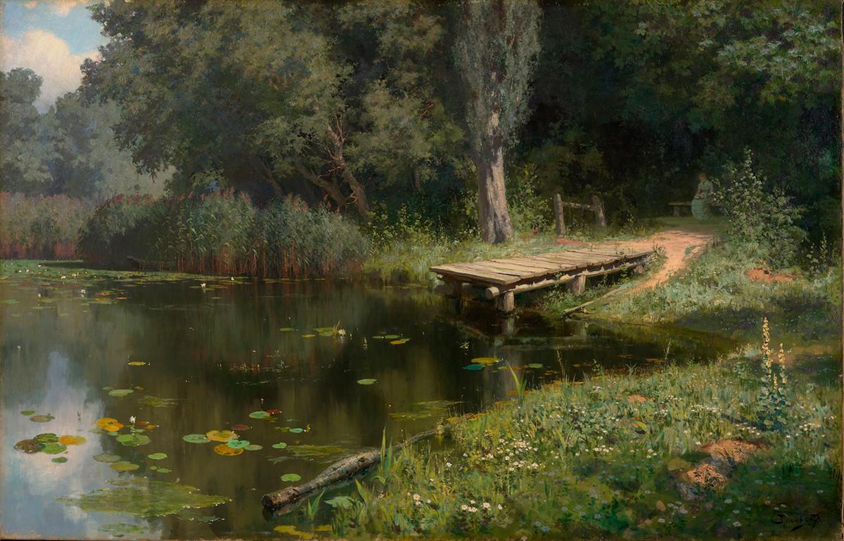 Étang envahi par les herbes, 1879