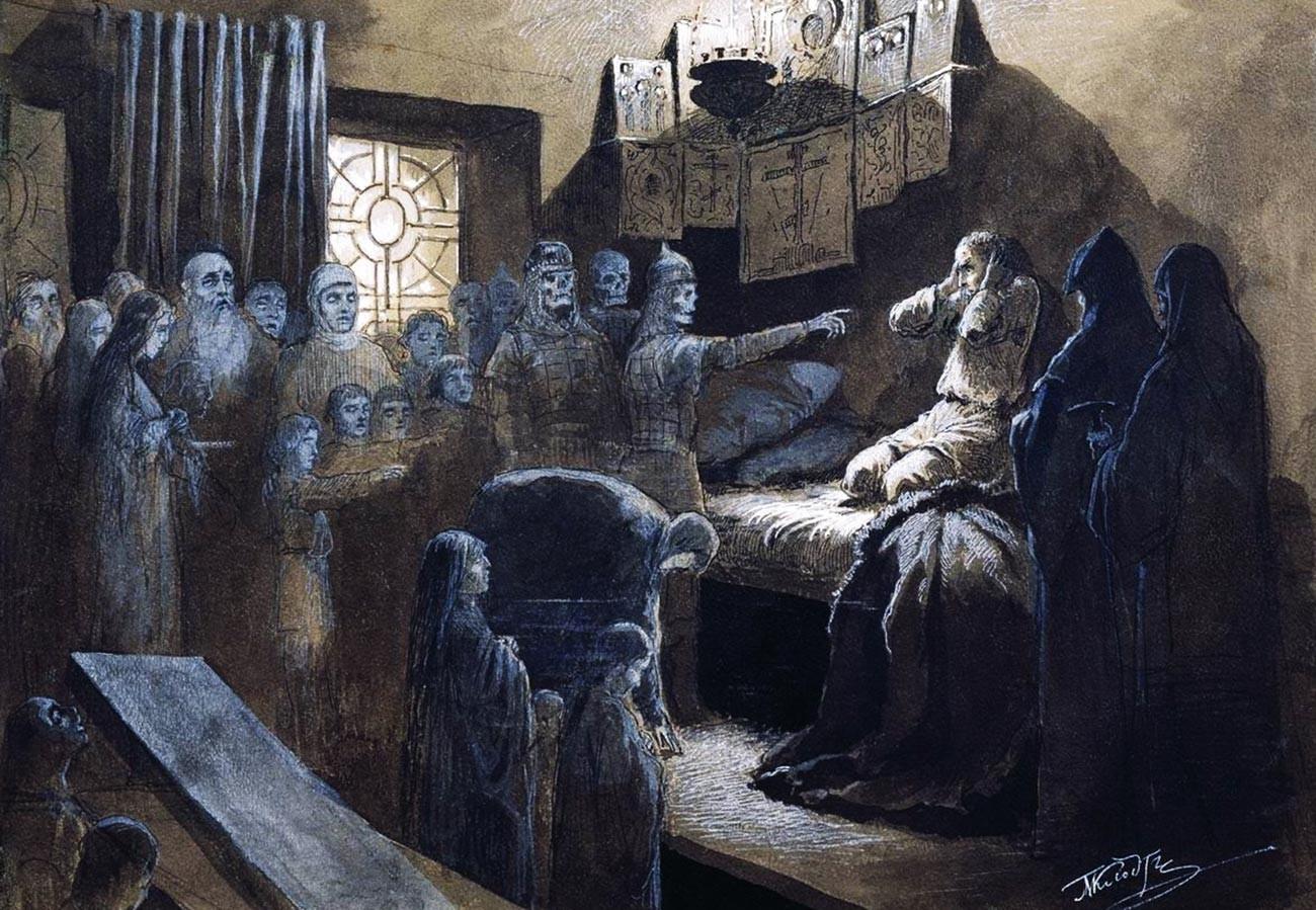 『イワン雷帝(4世)が彼の指示で殺された犠牲者と向き合う』