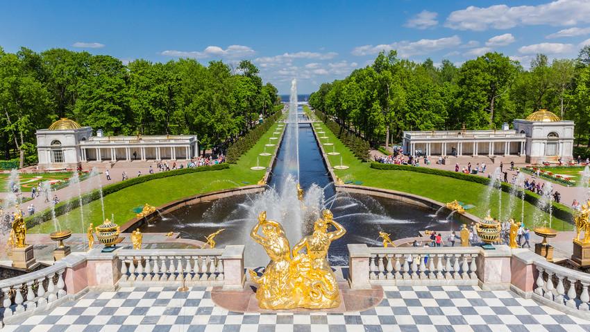 Peterhof, rezidenca Petra Velikega