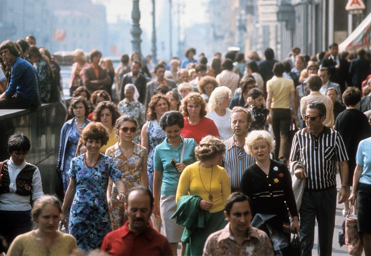 Newski-Prospekt, Sankt Petersburg, 1980er