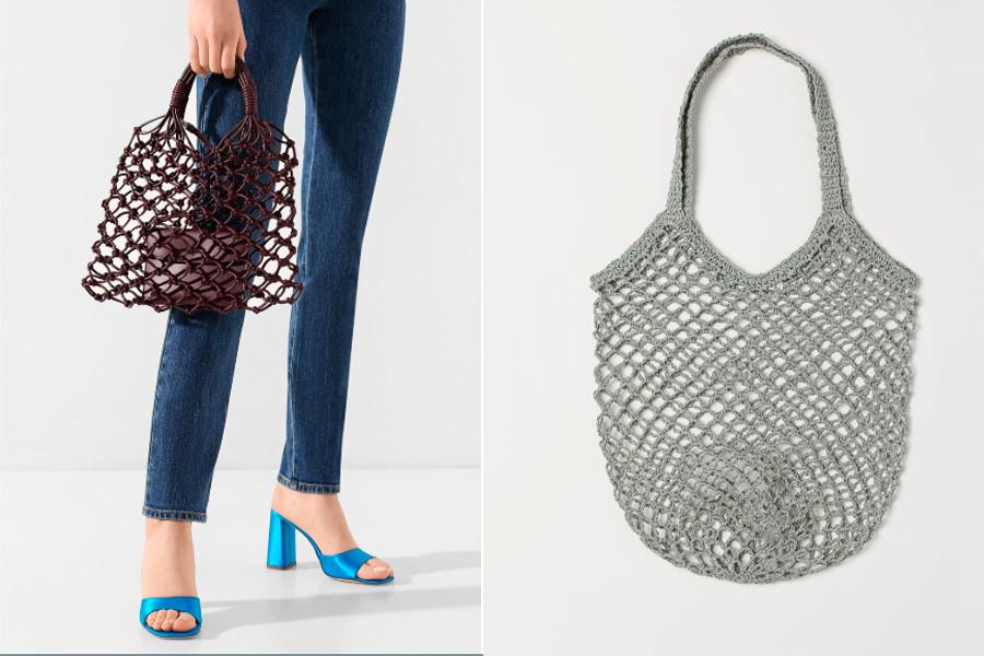 Слева - авоська от Stella Mccartney; справа - от H&M