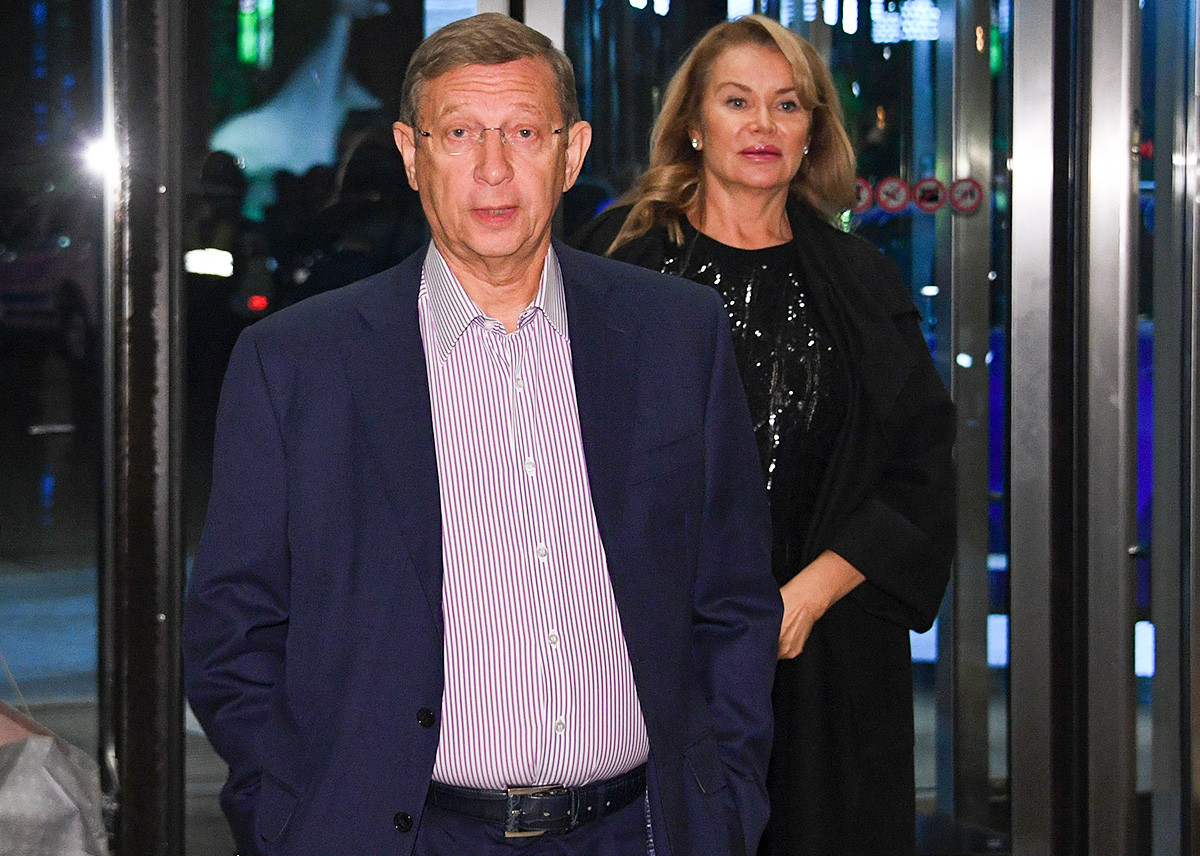 Vladimir Yevtushenkov at a party to mark the 15th anniversary of Crocus City Mall. 2017