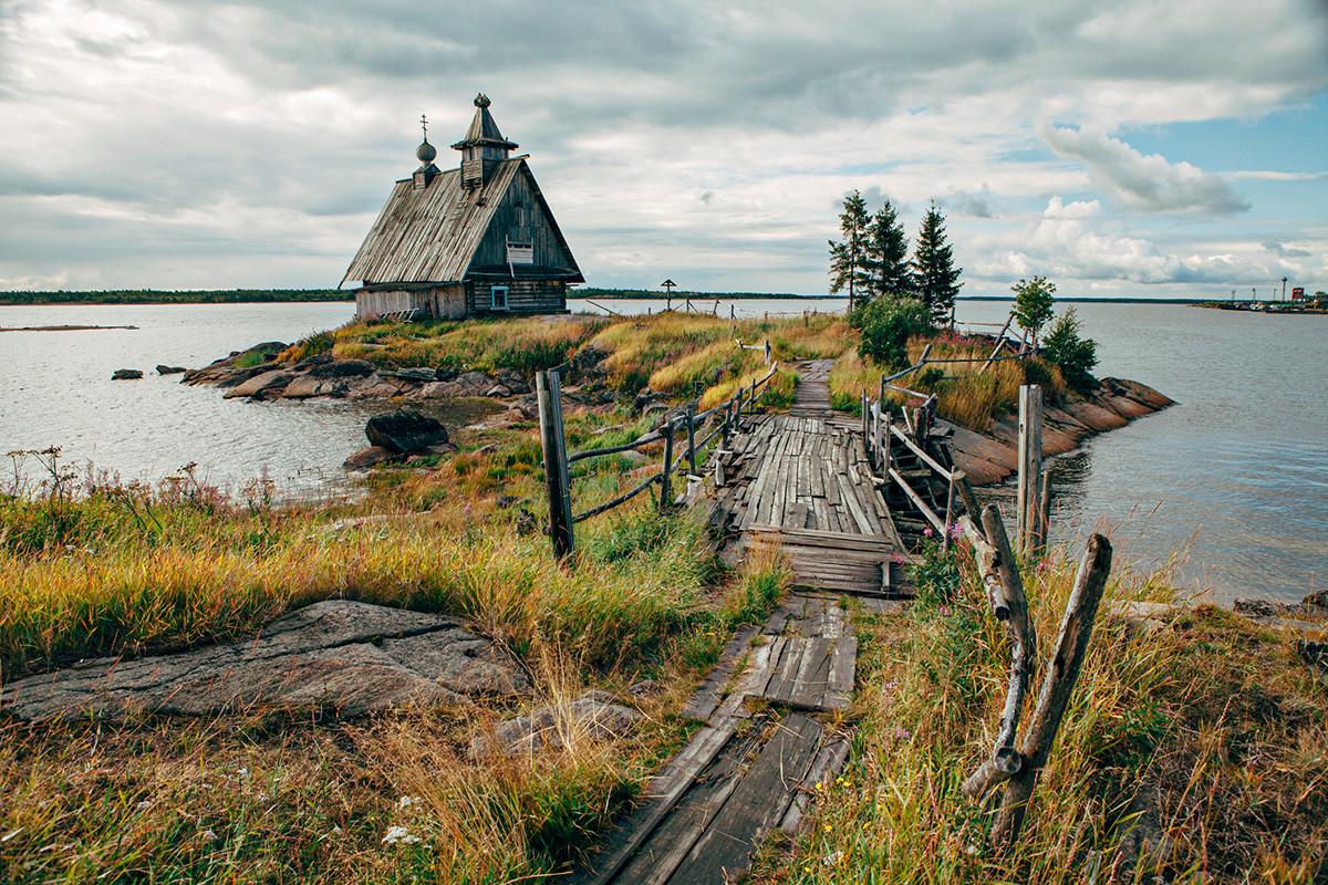 Uno scorcio del villaggio di Rabocheostrovsk