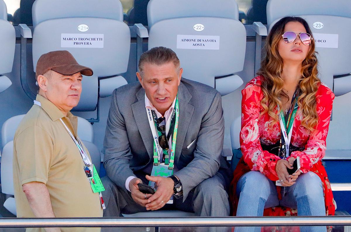 Arkadij e Boris Rotenberg al Gran Prix di Formula 1 a Sochi, 2017