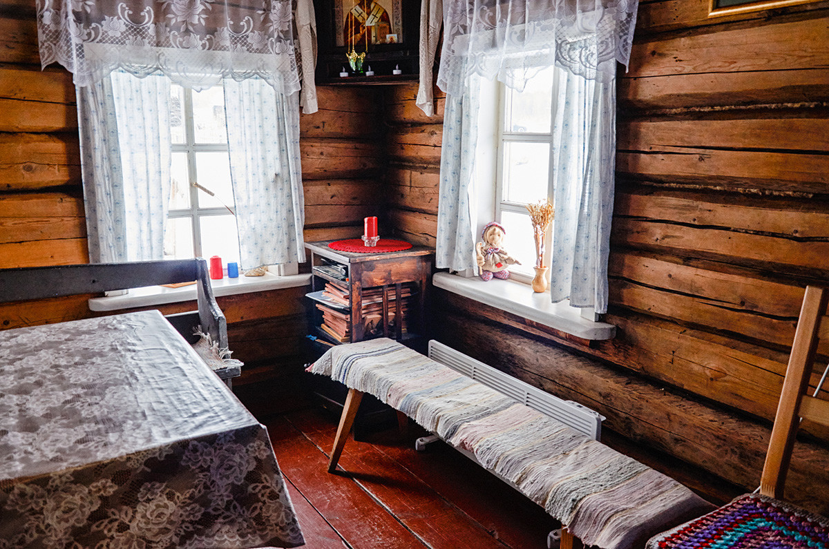 Inside a Karelian house.