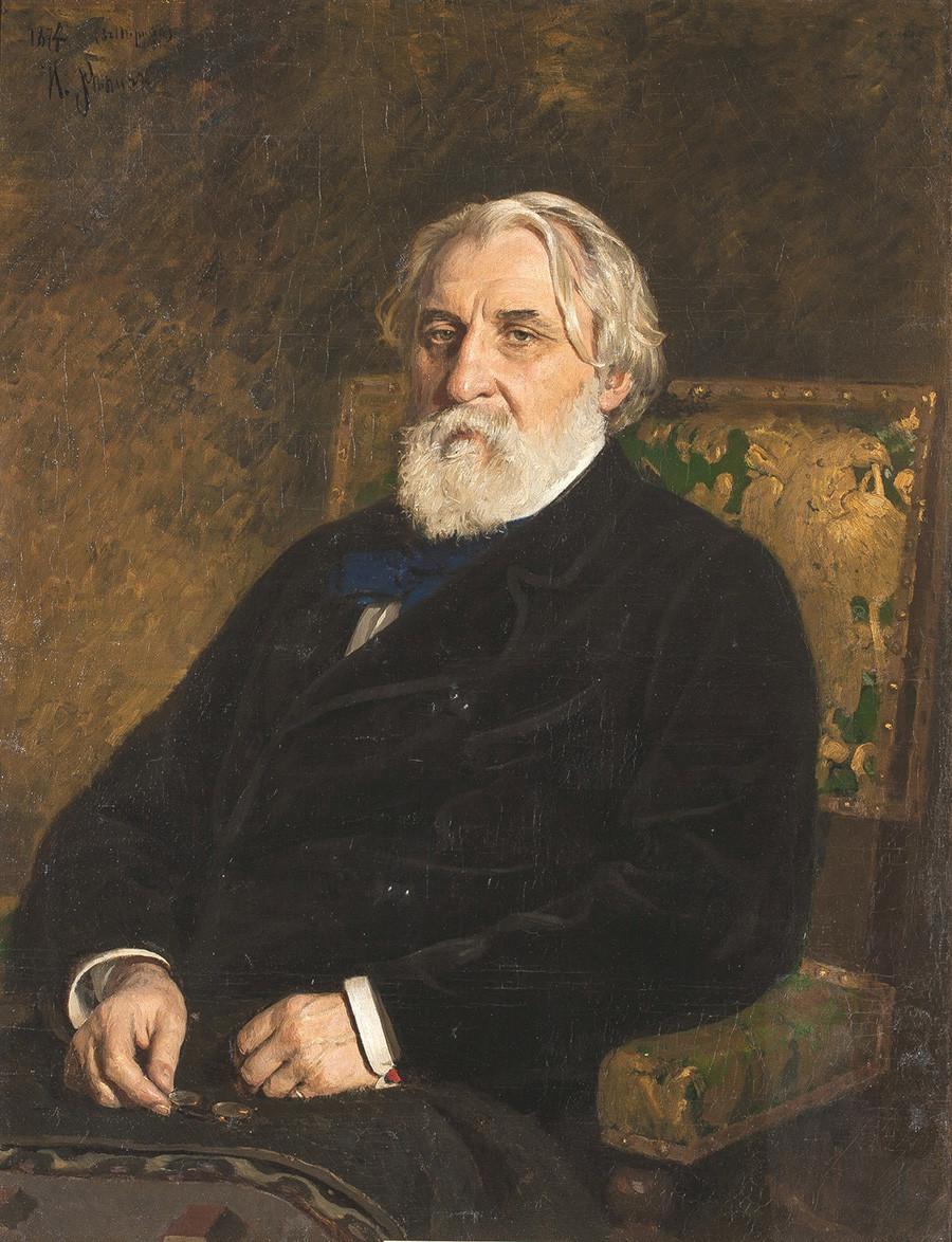 Retrato de Ivan Turguênev feito por Iliá Répin.