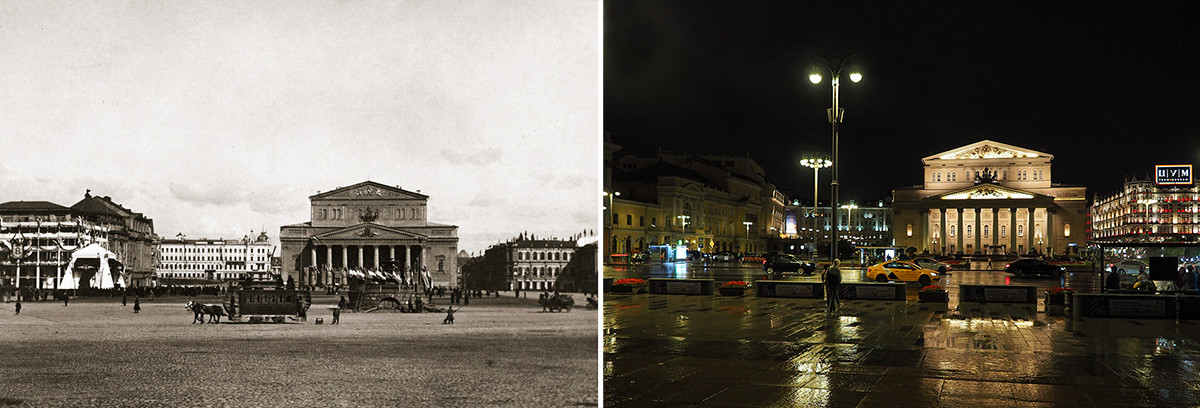 Театральная площадь. 1896 год/2020 год