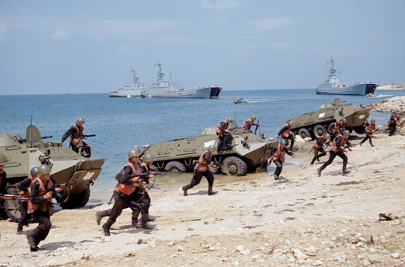 A Marines' landing party, 1973.