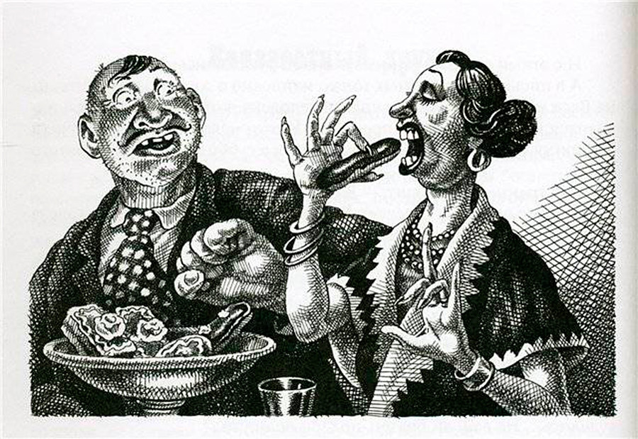 Illustration for 'The Lady Aristocrat' short story by artist Sergei Lemekhov