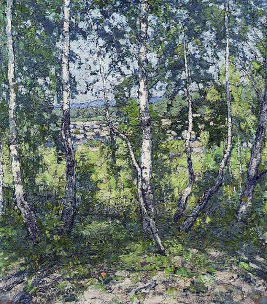« Bouleaux », 1907 par Piotr Petrovitchev