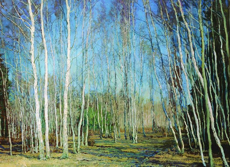 « Printemps bleu », 1930 par Vassili Bakcheïev