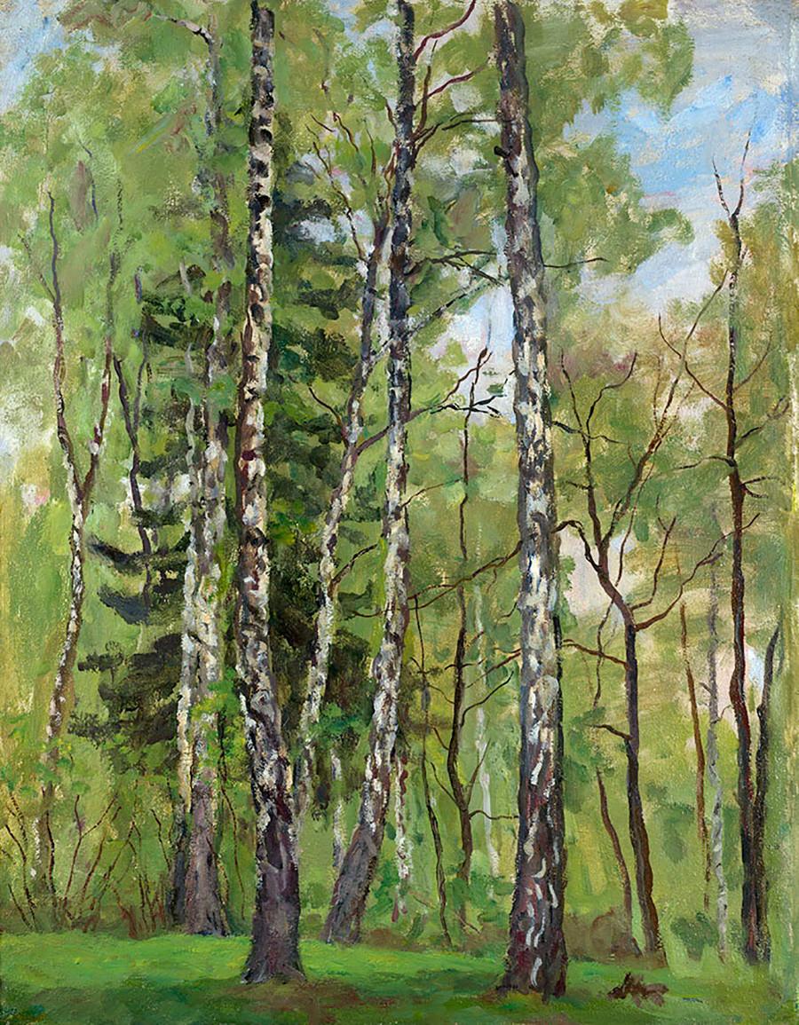 « Jour de printemps », 1955 par Piotr Kontchalovski