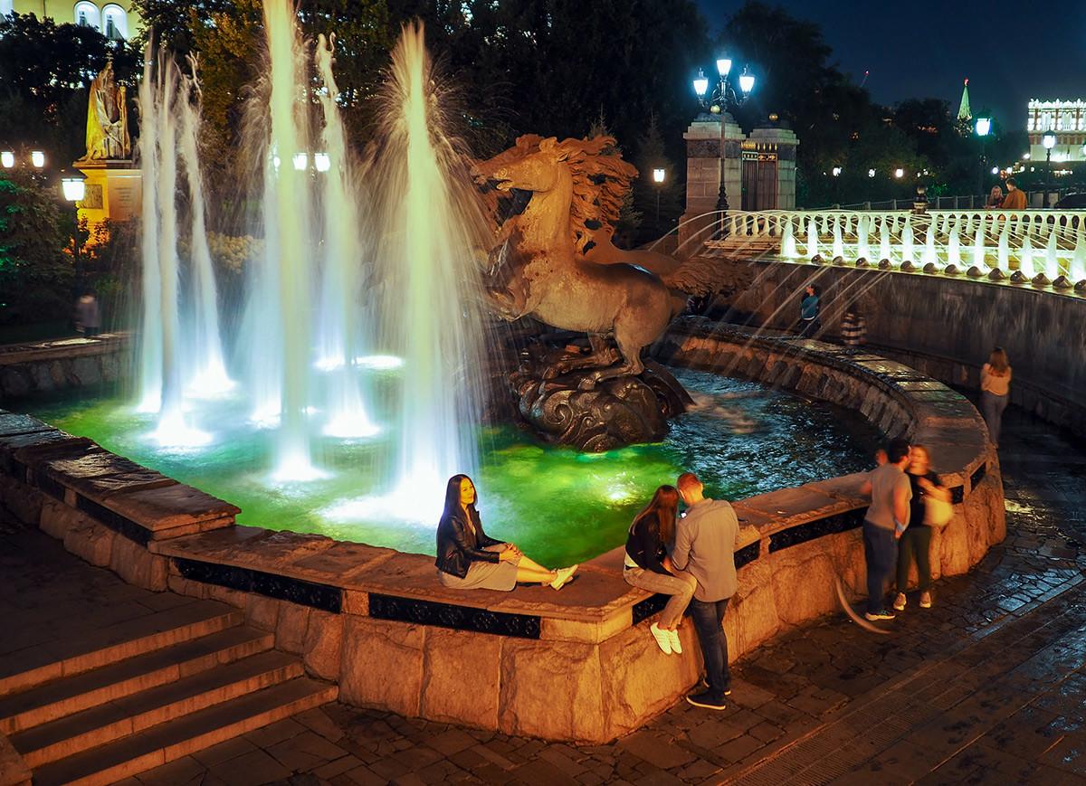 Le fontane vicino al Maneggio, a due passi dalla Piazza Rossa