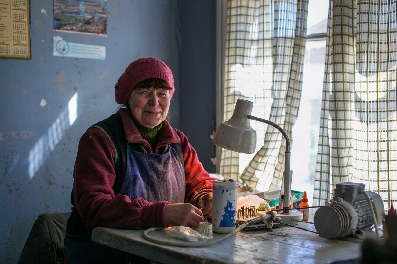Zoja Gorbatova se je v Holmogori preselila pred 40 leti.