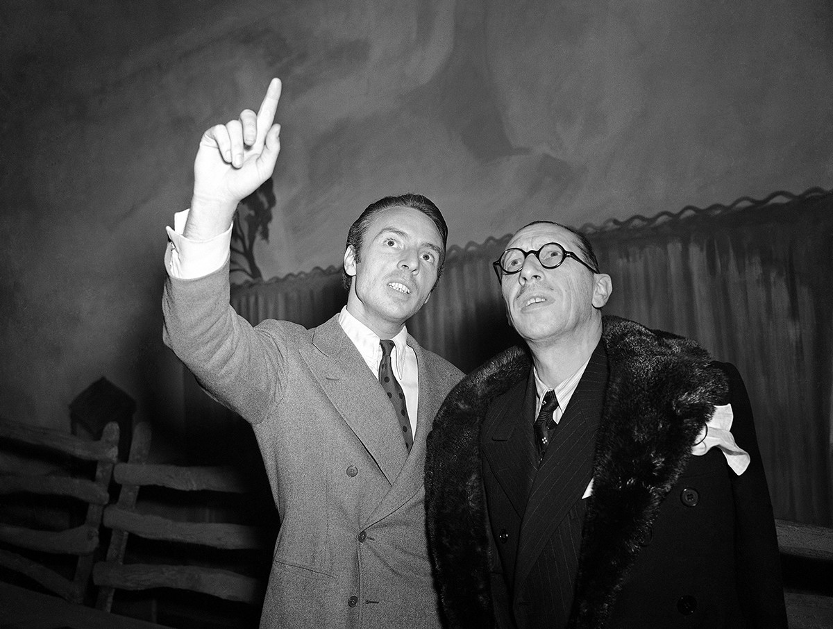 Ígor Stravinski y George Balanchine
