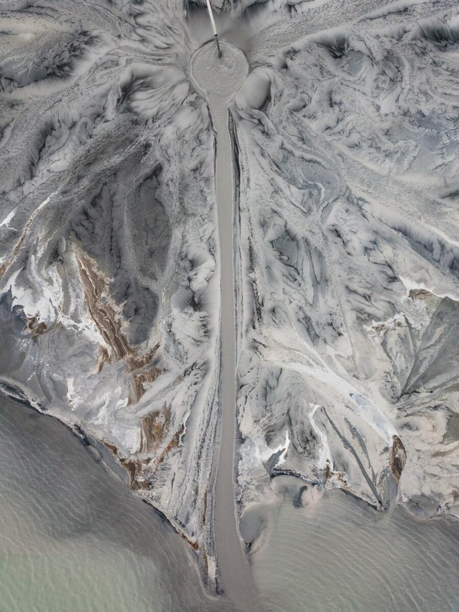 Déversoir de mâchefer de la centrale de cogénération d'Artiom, dans le Primorié