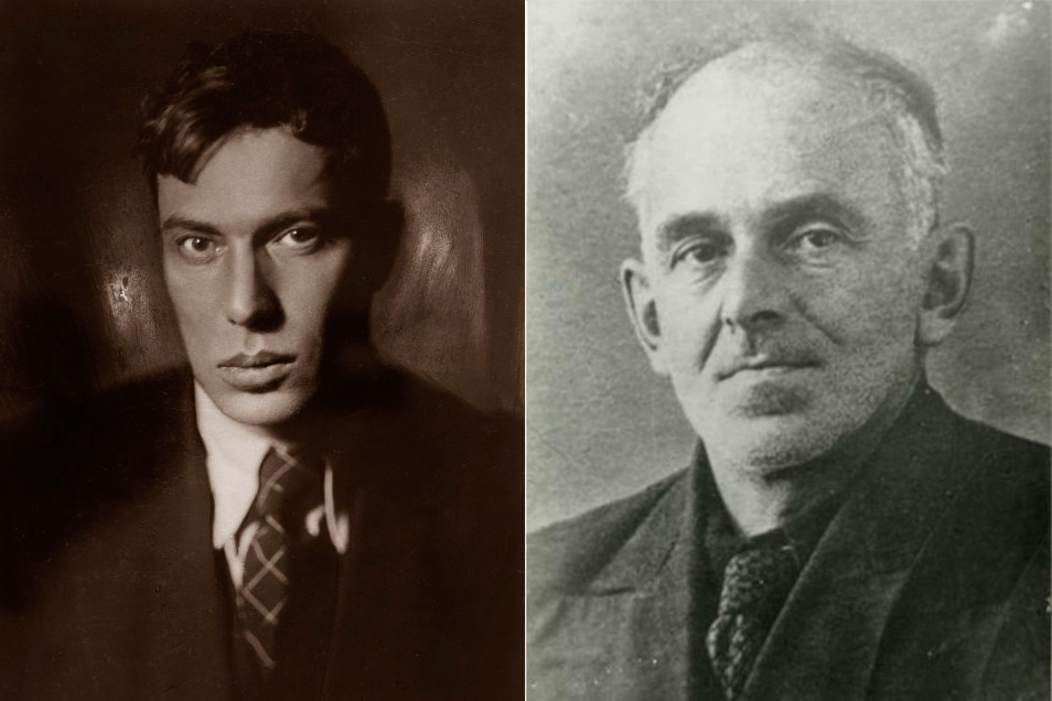 Boris Pasternak (L) and Osip Mandelstam