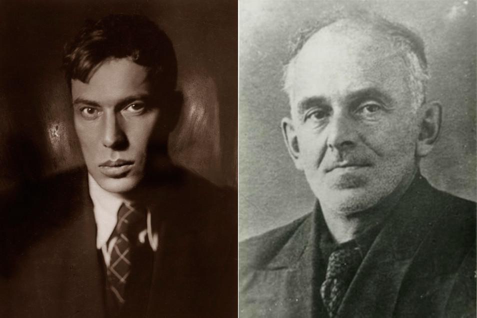 Boris Pasternak (L) and Osip Mandelstam