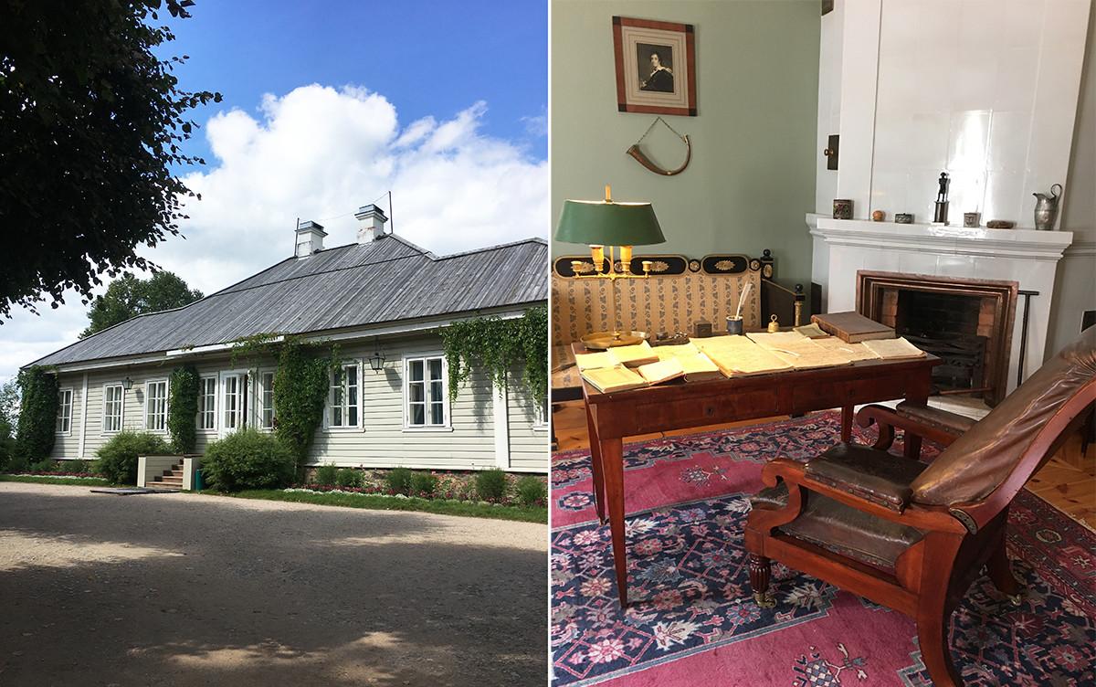 Mikhaylovskoye estate and Pushkin's working place