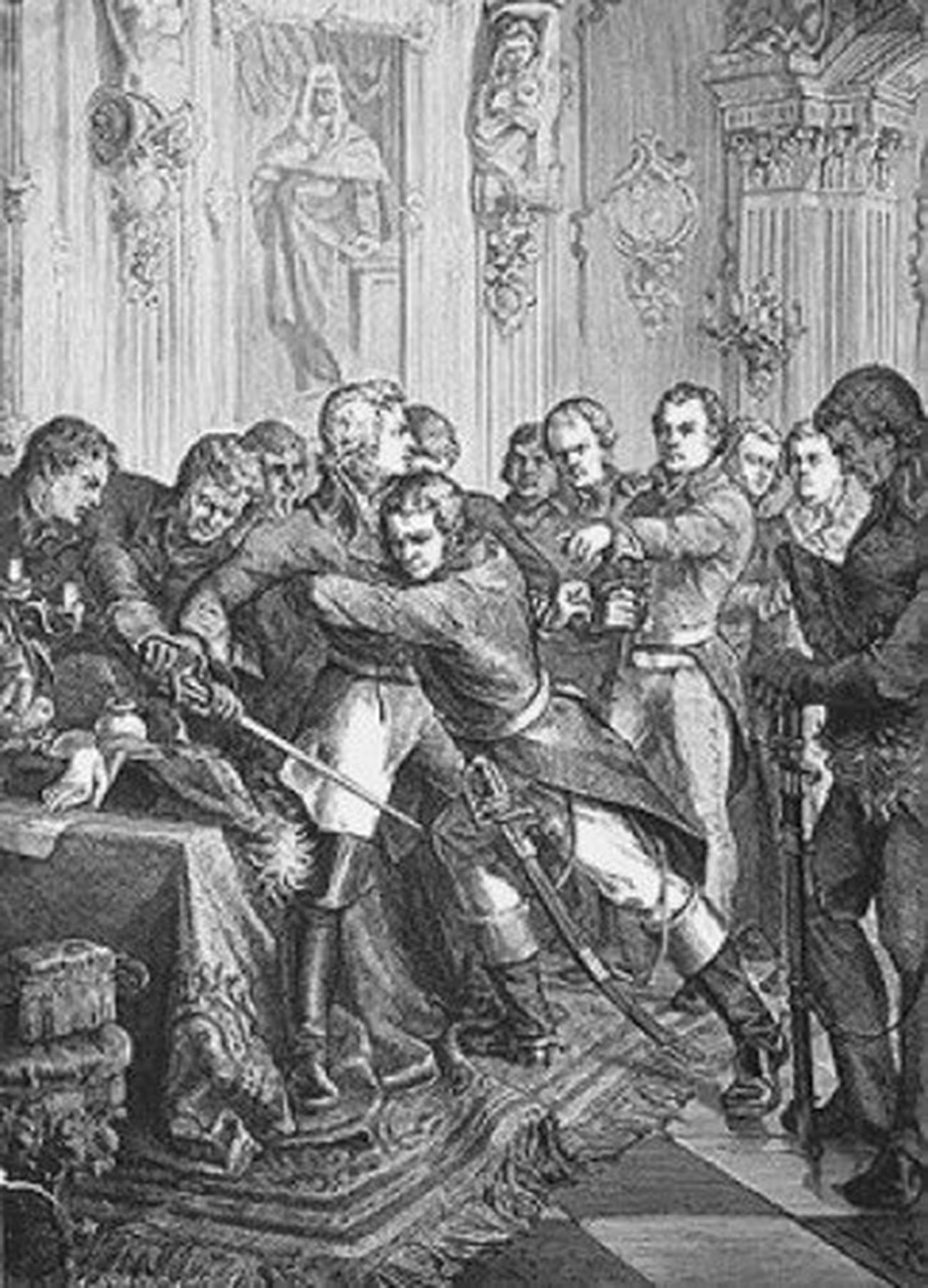 The arrest of Gustav IV.