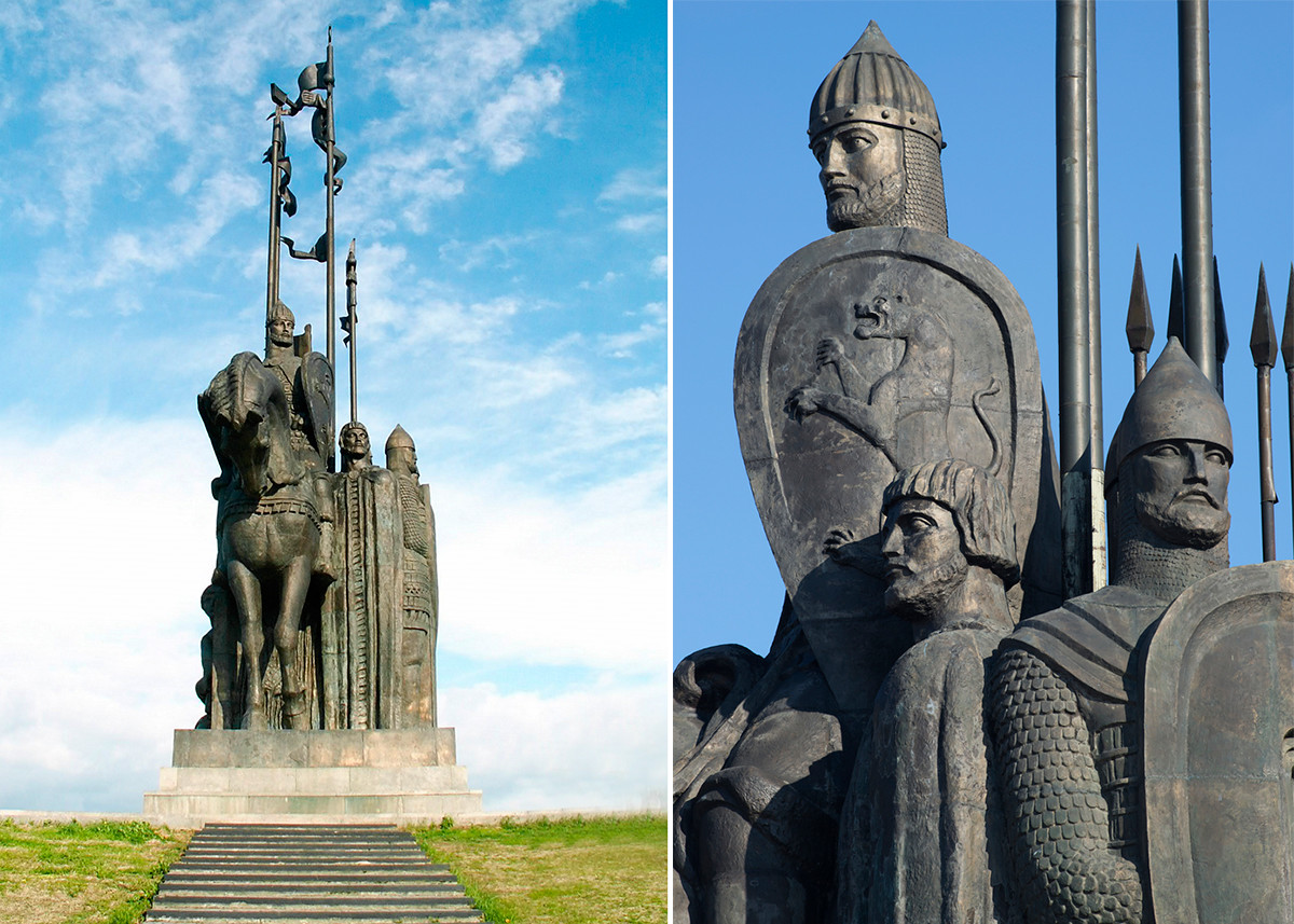 A monument to Alexander Nevsky and the Battle on the Ice