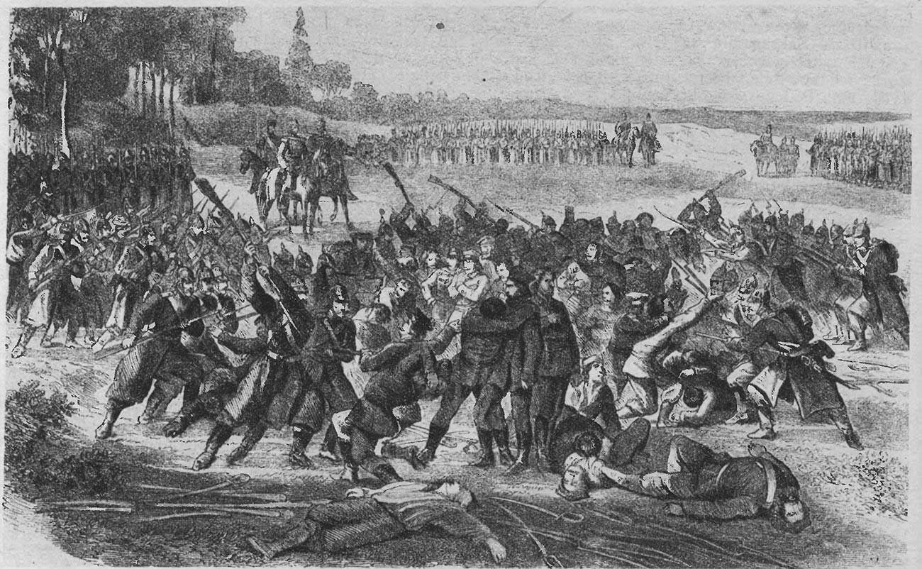 La rivolta polacca del 1863