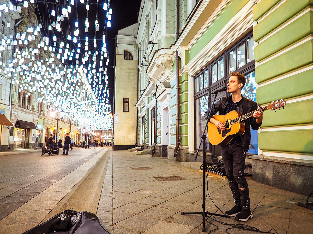 Ulični glasbenik, Stolešnikov pereulok