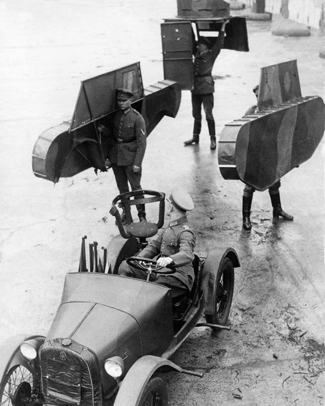 Usposabljanje nemških tankistov v Kami