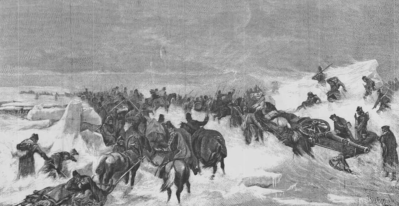 Menyeberangi Selat Kvarken pada 1809.