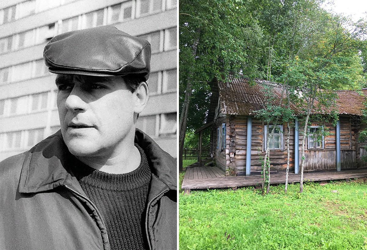 Sergej Dovlatov in hiša, ki jo je najel nedaleč od Mihajlovskega, ko je delal kot turistični vodnik