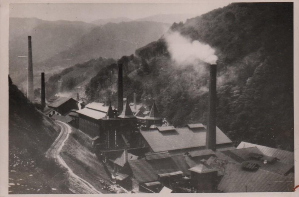 Pogled na Tovarno kemičnih izdelkov Hrastnik pred drugo svetovno vojno