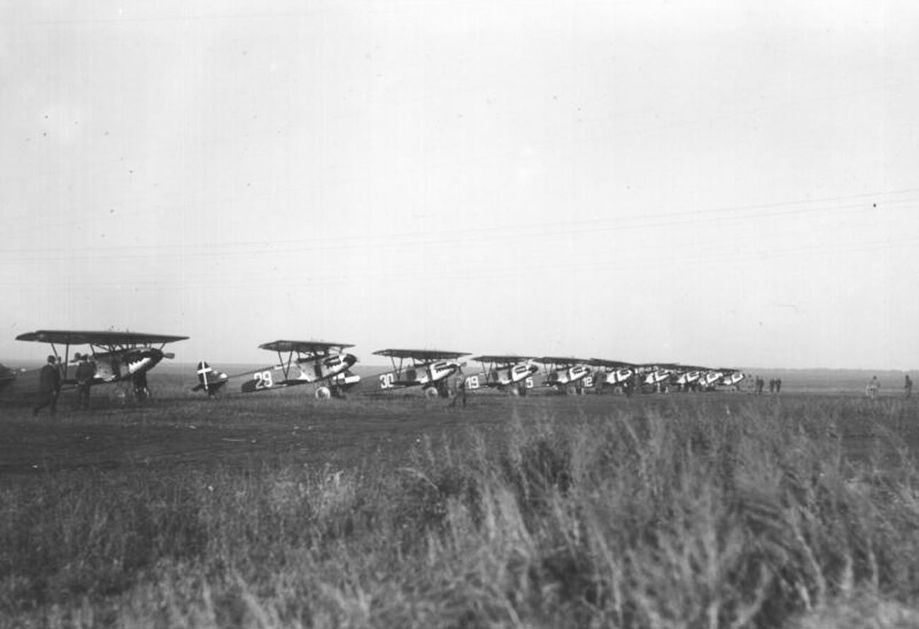 Dutch Fokker D.XIII fighters in Lipetsk.