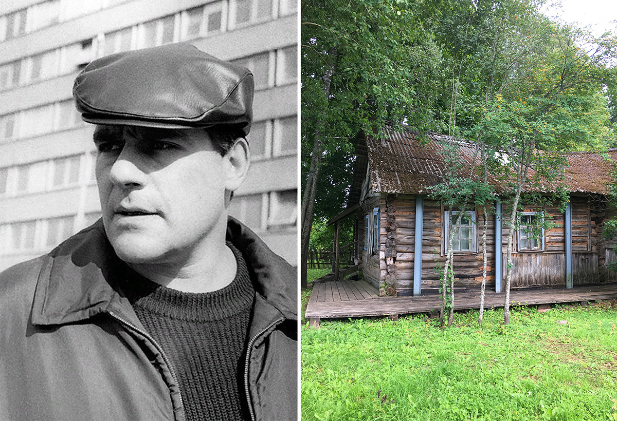 Sergueï Dovlatov et une maison qu'il a louée non loin de Mikhaïlovskoïé lorsqu'il travaillait comme guide touristique