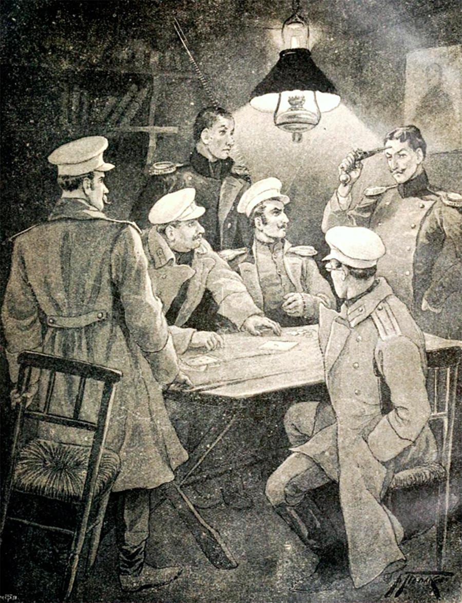 Ilustracija V. A. Poljakova za roman Junak našega časa M. J. Lermontova