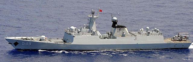 Ka-28 a bordo de una fragata de la clase Jankai II de la Armada china.