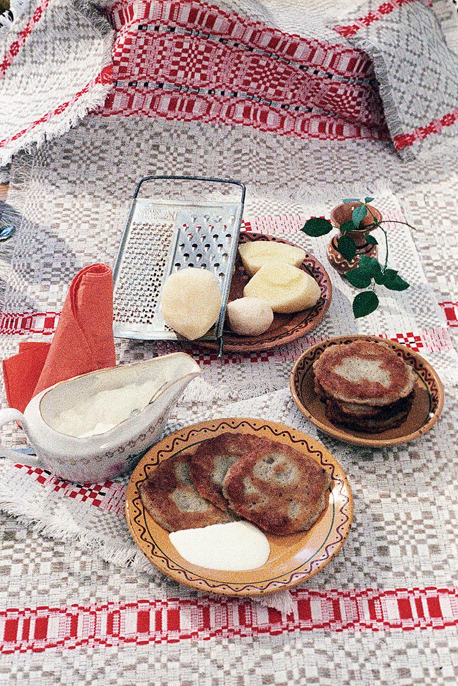 ジャガイモのドラーニキ。1987年