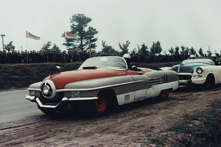ソ連自動車レース大会。1956年